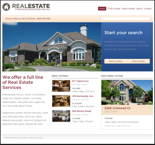 Real-Estate-Website-on-blog-platform